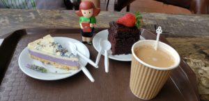 Lavender Cheesecake, Strawberry Chocolate Cake, Strawberry Tea